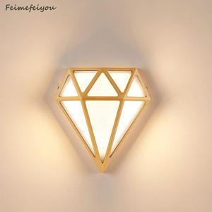 Новая Алмазная Настенная Лампа Оптовая Вилла Ворота Садовый Двор Супер Яркие Дверные Крытый и Накрытый Балкон Настенные светильники