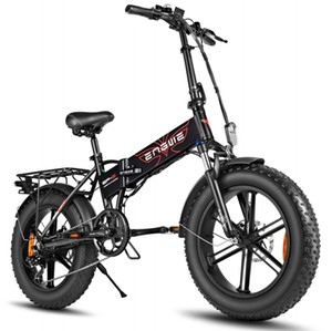 ENGWE 500W 20-inch Fat Tire Electric Bicycle Mountain Bikes for Adults, Aluminum Electric Scooter E-Bike with Removable Battery W41215023
