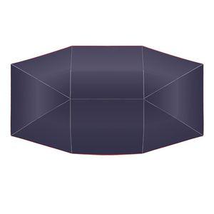 Car Umbrella Sunshade Cover Tent Oxford Cloth 4 * 2.1M Universal Navy UV Protection