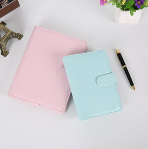 Empty Notebook Binder Loose Leaf Notebooks without Paper PU Faux Leather Cover File Folder Spiral Planners Scrapbook 4 Colors EWC4160