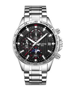 2021 럭셔리 쿼츠 남성 시계 스테인레스 스틸 스포츠 강철 다이브 핸드 시계 다이아몬드 데이 날짜 손목 시계 WACH RELOG HOMBRE