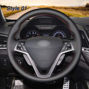 DIY натуральная кожа автоматически на заказ руль крышки для Hyundai Veloster 2011-2017