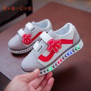 BAMILONG 2020 Luminous Sneakers Girls Kids Flashing Shoes Tenis Infantil Led Glowing Sneakers Shoes Boys Light Up Shoes B188