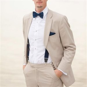 New Casual Champagne Men Suits For Wedding 2Pieces(Jacket+Pant+Tie) Fashion Prom Groom Slim Fit Terno Masculino Blazer 542