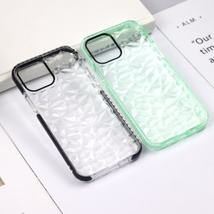 For Iphone 11 Pro Max TPU Transparent Ultra-Thin Diamond Texture Case For Iphone X XS MAX Clear Shockproof Back Cover Cases