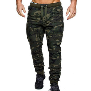 MenWarm Drawstring Closure Slim Fit Camo Jogger Pants Gym Athletic Sweatpants Winter Autumn Casual Camouflage Fitness Trousers