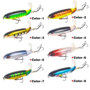 Artificial 3.9inch Classic Road Sub Fish Shaped Bait Road Sub Simulation Bait Steel Three Anchor Hooks Fishing Tackle Lures BWD2642
