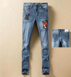 Mens Designer Jeans Letter Animal Embroidered Slim Denim For Men s Top Quality Fashion Mans Casual Jean Pants