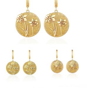 xXA New Year's Cute chrome heart Pattern earring retails Bee stud Earrings Women gift Bee Dangel Round Tassel Pendant Gold fashion Earring