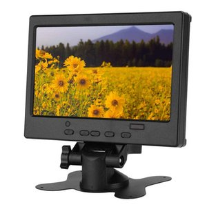 7in Portable Monitor LCD Widescreen 1024x600 16:9 Display with Stand Support  VGA AV Input for Raspberry Pi Car Display CCTV