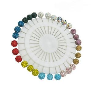 30 pezzo / lotto 2020 Fashion Mix Color Safety Sciarpa Hijab Pins Colorful Strass Ball Musulmani Brooch Pin gioielli1