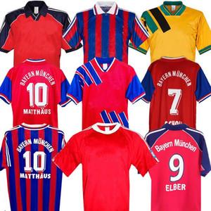 94 95 96 Bayern Munich Retro Jersey 00 01 02 Finale Elber Zickle Effenberg Elber Pizarro Scholl Matthaus Klinsmann Football Shirts 1995 2001