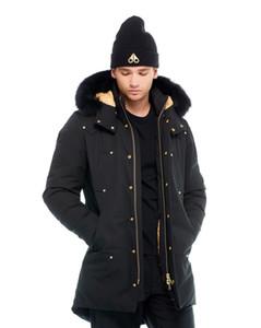 Inverno Uomo Casual Jacket Giù moose caldi all'aperto Uomo Inverno Outwear giacche parka canada nocche Doudoune