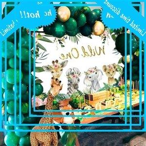 FENGRISE Hayvan Backdrop Erkek Kız Bebek Duş Dekor Orman Safari Malzemeleri Vahşi Bir Doğum Günü Partisi Süslemeleri Çocuklar