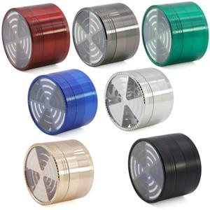 DHL / UPS nuovo segnale multicolore nuova lega di zinco dente diametro 63 millimetri coperchio trasparente mulino fumo 4 strati