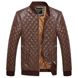 Men's diamond collar leather jacket, windshield, 3D, rising in spring and Autumn