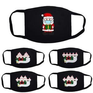 christmas face mask mouth masks hot selling explosion-proof Christmas family survivor breathable cotton mask dustproof black mask