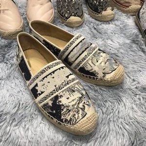 2020 Nouveau design de luxe femmes Granville Espadrilles Mode Plateforme Femmes Chaussures Fisherman Oblique Espadrilles couleurs multiples