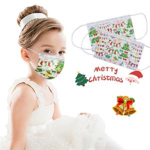 Christmas Party Mask Одноразового высокое качество Нетканая маска 3ply Крюк бинты пыленепроницаемого Masque крышка для взрослых для детей ребенка