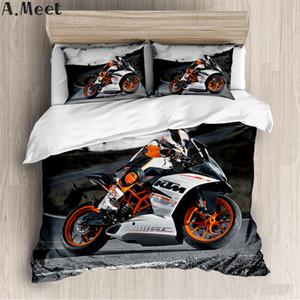 Bedding Sets Motorcycle Duvet Cover Set NO Bed Sheet Housse Couette Literie Copripiumone Con Motocykl Single King