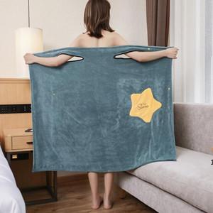 Kadınlar Giyilebilir Banyo Havlusu Elbise Saf Pamuk Bornoz Spa Jartiyer Yumuşak Wrap Etek Havlu Süper Emici Ev Tekstili DHC5549