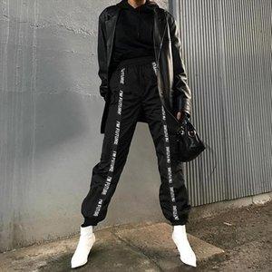 Pants Trousers Women Full Length Loose Jogger Mujer Sporting Elastic Waist Black Casual Combat Streetwear Fashion
