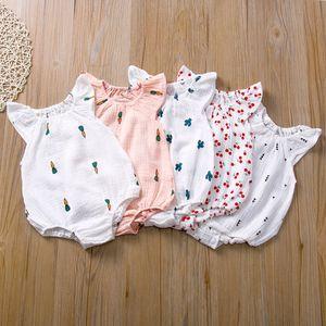 Roupas de bebê recém-nascido romper multi design cacto sem mangas sólida criança roupas bebês menina macacão 13 5sc l2