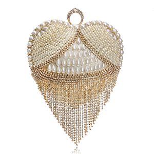 American fashion exquisite tassel bag lady evening bag bride foreign trade lavish banquet dinner hand bag