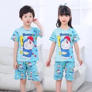 Yaz Çocuk Pijama Erkek pijamalar Pijama Çocuk Pijama Suit Bebek Kız Giyim Küçük Gençler Kısa kollu Kızlar Pijama BZo0 # ayarlar