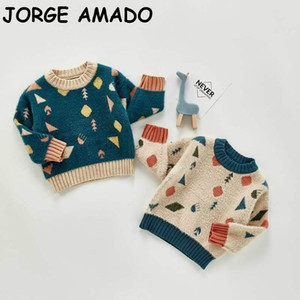 Baby Sweaters 2020 Autumn Long Sleeve Knitted Pullover Outerwear Winter Baby Girl Clothes 0-3T E20318