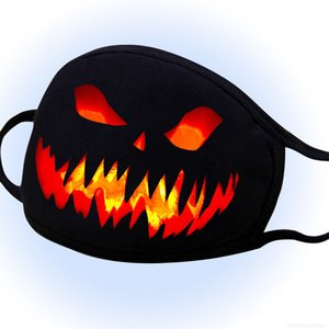Reusable 3D Scary Mask Halloween Printing Design Washable Face Dustproof Mouth Cover Festival Outfit for Adults Women