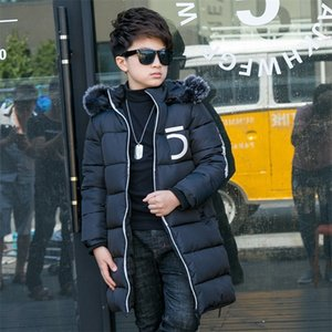 Boys Cotton Winter Fashion Fur Collar Sport Jacket Outwear Children Cotton-Padded Jacket Boys Warm Coat LJ201130