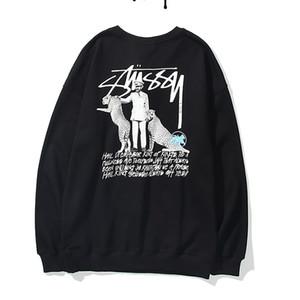 STUSSY мужских свитеров женщины конструктора Letters пуловер Мужчина Толстовка с длинным рукавом Толстовка Активной Вышивка Трикотаж Зимней одежда