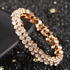 S1804 Hot Fashion Jewelry Double Row Stretch Bracelet Rhinstone Bracelets