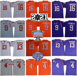 2021 Sugar Bowl Clemson Tigers Trevor Lawrence Jersey 16 NCAA Deshaun Watson 9 Travis Etienne JR Hunter Renfrow Amari Rodgers Naranja Púrpura