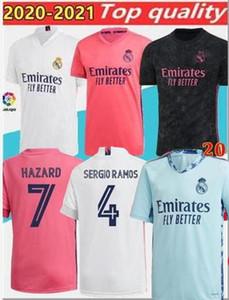 fútbol camisetas del Real Madrid 20 21 al anfitrión manga larga PELIGRO JOVIC BENZEMA camiseta de futbol 2020 VINICIUS RODRYGO MODRIC camiseta de fútbol