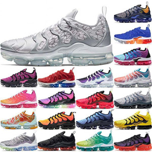 2020 Voltage Purple Tn Plus Mens Running Shoes Black Laser Crimson Triple White Silver Grape Zebra USA Sunset Women Sports Sneakers T