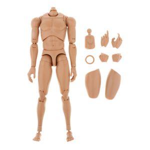 """1/6 Maßstab männlich Mann Junge Körperfigur militärische Brust muskulöser Skelett unhöflicher nackter Körper für 12 \ """"Soldier Action Figure Kopfspielzeug"""