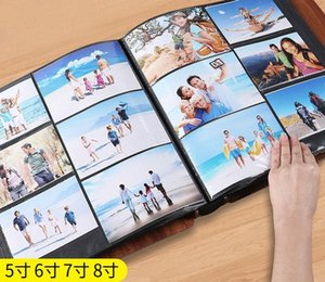 Wooden Cover 5678 inch Inset Waterproof Family Large Capacity Baby Growth Mixed Photo Wedding Gift HN02#