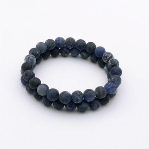 8mm Blue Sodalite Beads Bracelet, Matte Gemstone Bracelet, Elastic Bracelet,Beaded Bracelet ,Wholesale Bracelet