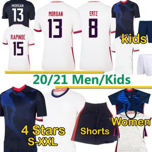4 Sterne US 2020 21 Pulisic Reyna Ein Fußball Männer Frauen Kinder Kit Jerseys Lloyd Morgan Dest McKennie America Football United States Shirts Hosen