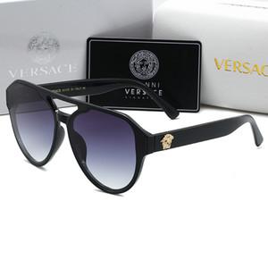 0105 migliore lente in vetro di qualità occhiali da sole Fashion Designer Gold Frame specchio Occhiali da sole per uomo e donna UV400 sole sport occhiali con