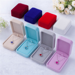 Jewelry Velvet Box Necklace Storage Box Gift Packing Box Jewelry Display Case Wedding Party Supplies WB2887