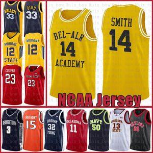 NCAA Fresh Prince Ncaa Will 14 Smith Kawhi Stephen 30 Curry Leonard University Dwyane 3 Wade Lebron 23 James Pallacanestro Jersey Anfernee Duro