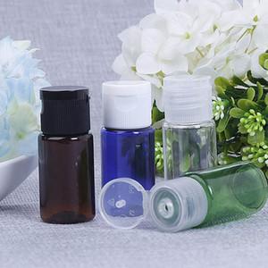 Botella de plástico de 10 ml con la solapa de la cápsula del PET vacío envase cosmético Aceite Esencial de maquillaje recargable vacío viaje embotellado Sub-BH4254 WXM