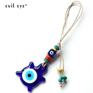 EVIL EYE Cuckold Pendant Key Chain Holder Glass Bead Blue Turkish Eye Keychain Fashion Jewelry Gifts for Women Men Boys LE2421