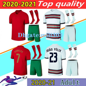 2020 Ronaldo Fussball Jerseys Kits 20 21 Joao Felix Neves Bernardo Cancelo Ruben Neves 2021 Home Away National Team Football Hemd Kit Uniform