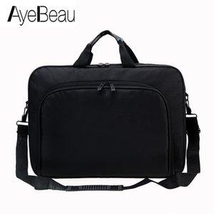 Tragbare Arbeit Handgeschäftsbüro Männliche Messenger Bag Männer Aktentasche für Dokument Laptop Computer Handtasche Schulter 15.6 Tablet PC Q0112