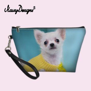 Custom Make Up Bags for Women Chihuahua Dog Prints Girls Cosmetic Case Makeup Box Pouch Travel Beauty Necessaire Vanity Pochette