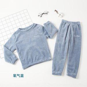 DJX3 Crianças Sleepwears Pijamas Flanela Veludo Pijama Conjuntos Inverno Confortável Meninas Pijamas Boys Baby Dos Desenhos Animados Nightgown Nightcl